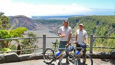 kilauea crater with bikes
