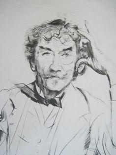 Paul Helleu Portrait of James A. McNeil Whistler Etching For Sale | Antiques.com | Classifieds