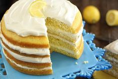This delicious lemon cream cake is the perfect dessert for any occasion! Made with cake mix, it gets a gourmet twist from homemade lemon filling. Lemon Recipes, Cake Recipes, Dessert Recipes, Cupcakes, Cupcake Cakes, Oreo Delight, Lemon Cream Cake, Pineapple Upside Down Cake, Box Cake Mix