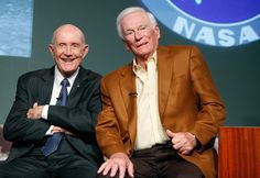 Gene Cernan and Tom Stafford = best buds. Stafford Air and Space Museum, Weatherford, OK Space Astronauts, Nasa Astronauts, Eugene Cernan, One Small Step, Neil Armstrong, Air And Space Museum, Man On The Moon, Best Bud, Space Program