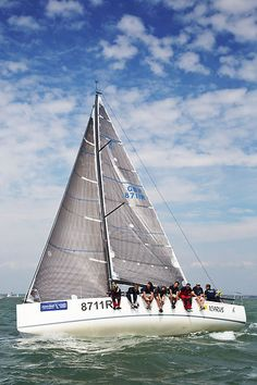 The J/111 yacht 'Icarus' racing during Cowes Week 2013