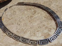 Vintage Mexican Sterling Silver Greek Key $165.00