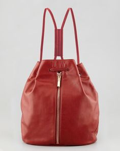 Leather Drawstring Sling, Red by Elizabeth and James at Neiman Marcus.