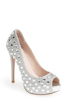 Lauren Lorraine 'Candy' Crystal Peep Toe Pump (Women) available at #Nordstrom