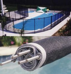 Removable Pool Fencing Possibility Easy To Roll Up When Not Needed But Great