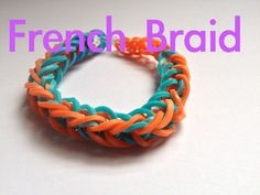 Bracelet tresse french braid - Rainbow Loom (Easy tuto facile français)