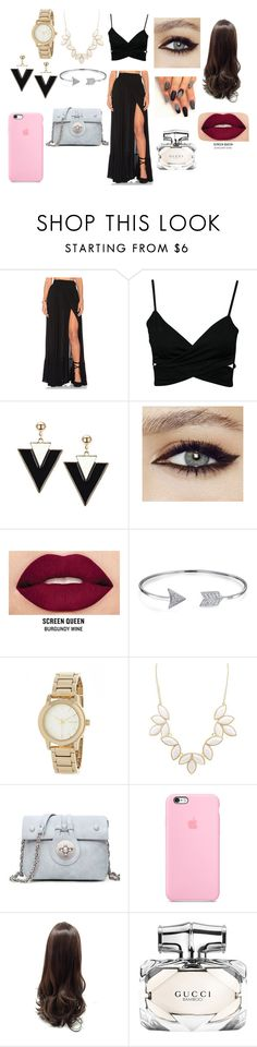 """Sem título #5"" by bruuhwey ❤ liked on Polyvore featuring Wildfox, Smashbox, Bling Jewelry, DKNY, Charlotte Russe and Gucci"