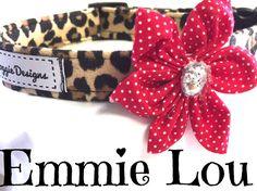 Dog collar animal print collar puppy collar by DazzleDoggieDesigns