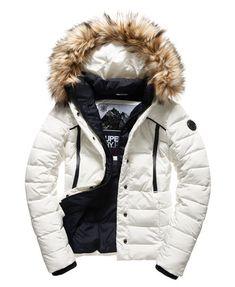 Superdry Glacier Biker Jacket White