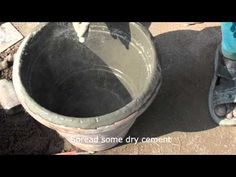 Story Of Concrete Flower Pot - YouTube