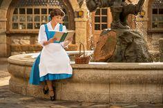Belle takes a stroll through New Fantasyland at Magic Kingdom park