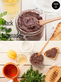 Easy to make and super tasty, it has the power to transform even the most boring of sandwiches /explore/glutenfree/ /explore/tapenade/ /explore/recipes/ Vegan Recipes Videos, Vegan Dessert Recipes, Dog Treat Recipes, Delicious Vegan Recipes, Veggie Recipes, Whole Food Recipes, Vegetarian Recipes, Tasty, Olive Tapenade Recipe Vegan