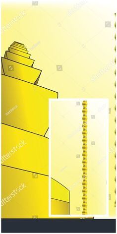 #vector #illustration #Abstract #sketch resembling the #Endless #Column sculpture