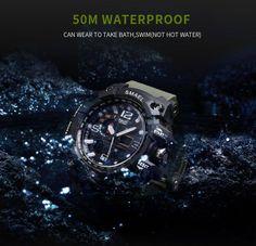 559a13b38b4 Men Military Watch Waterproof Wristwatch LED Quartz Clock Sport Watch Male  relogios masculino 1545 Sport S Shock Watch Men