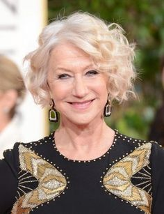'Golden Globes' hairstyle trends: Helen Mirren.