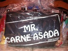 Carne asada apron (Back) fathers day beer gifts