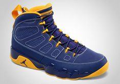 383e00619013 Calvin Bailey Young Air Jordan IX Boys Shoe Deep Royal University Gold White  302370 445
