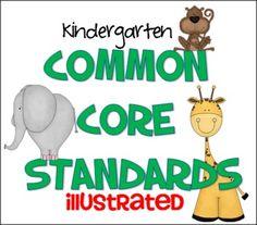 Common Core Standards Kindergarten (Illustrated)