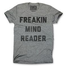 Mind Reader Tee Unisex Gray