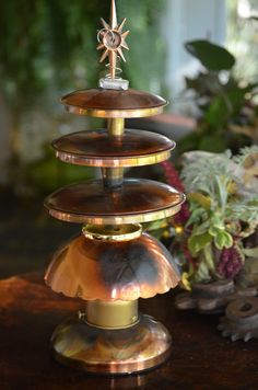 Copper Table Top Christmas Tree Upcycle by CatkinsCreations on Etsy