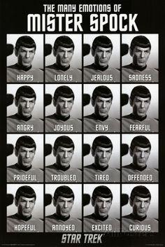 Star Trek - The Many Emotions of Mister Spock Poster