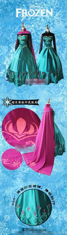 Cheap Queen Elsa Cosplay Dress - Best Frozen Ice Snow Queen Princess Elsa Coronation Cosplay Online with $163.36/Piece | DHgate