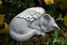 Cat Angel Statue - Pet Memorial by PhenomeGNOME on Etsy https://www.etsy.com/listing/109054158/cat-angel-statue-pet-memorial