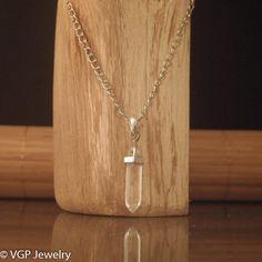 Chakra Ketting - Helder Kristal: lange zilverkleurige ketting