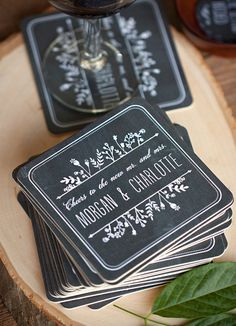 chalkboard invite and stationery 2015 trend