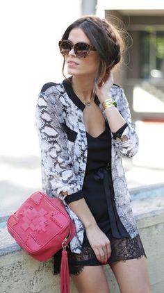 #street #style black lace dress @wachabuy