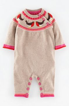 Mini Boden Knit Romper (Baby Girls) available at #Nordstrom