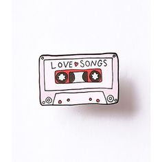 Pink Love Songs Cassette Tape Enamel Pin ($12) ❤ liked on Polyvore featuring jewelry, brooches, multicolor, enamel jewelry, retro jewelry, pin jewelry, pink jewelry and pin brooch