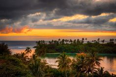 Sunrise Sailor - Sunset over a pacific island - rarotonga, cook islands