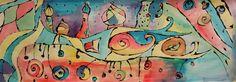 a faithful attempt: Hundertwasser Houses Watercolour Painting