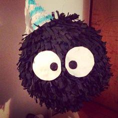 Piñata duendes del polvo Totoro