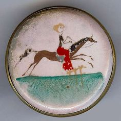Vintage Made in Italy Painted Ceramic Horse Riding Scene Pin | eBay