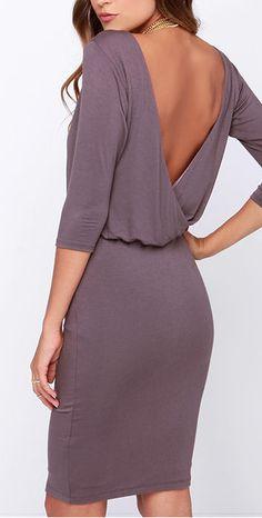dusty purple dress