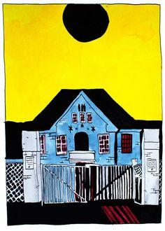 Untitled #9 by Halfdan Pisket #art #artist #painting #drawing - Beauton Art Gallery - http://beautonart.com   http://beautonart.dk