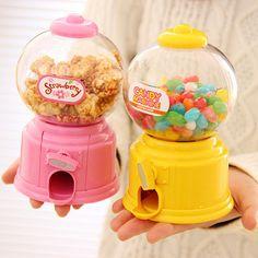 Diy bebê dos doces favores máquina de doces doce colorido Piggy Bank Saving Coin Box para cozinha cozimento decoração crianças presentes