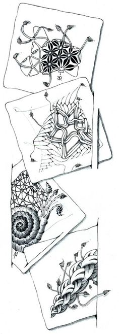 Zinger Examples by Maria Thomas, Zentangle Founder, subscribe to their newsletter and you too will get these beauties in your email box!  Exciting