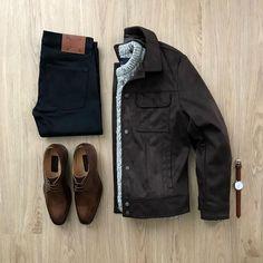 "2,155 Me gusta, 40 comentarios - Junho (@mrjunho3) en Instagram: ""Fall = Layers. Please rate this outfit 1-10 below! ⤵️ Jacket: @forever21men Suede Jacket from Men's…"""