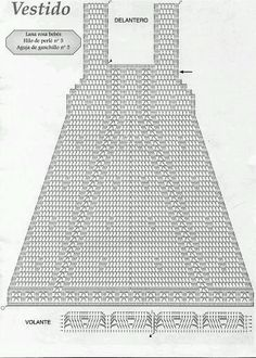 crochet diagram for a lovely baby girl dress~ Heather Amon, free crochet patterns : drawing: sewing : xstitch : hand made, nawar al sneed,This Pin was discovered by Ti Crochet Toddler Dress, Baby Girl Crochet, Crochet Baby Clothes, Vestidos Bebe Crochet, Crochet Bebe, Crochet For Kids, Crochet Diagram, Crochet Chart, Filet Crochet