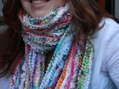 Very cool scarf from fabric scraps and all those selvedges you have been saving!