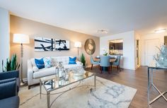Stunning living room! Gorgeous space and we have decor envy! Gables Dupont Circle: Washington, DC.