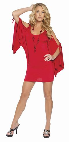 Sophisticated Scoop Neck Off-Shoulder Lace-Up Bat-Wing Long Sleeves Ice Silk Sexy Dress For Women