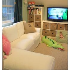 I didn't know what I was looking for, but this is it! This will inspire our playroom!
