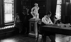 Female students studying at Girton College, Cambridge