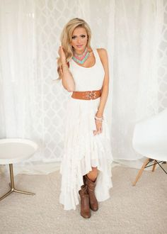 (Pre-Sale) Country Club Ruffle Lace Dress Ivory