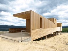 Image 1 of 8 from gallery of Kielder Observatory / Charles Barclay Architects. Courtesy of Charles Barclay Architects Wooden Architecture, Futuristic Architecture, Residential Architecture, Architecture Details, Installation Architecture, Container Architecture, Building Architecture, Shed Building Plans, Shed Plans