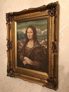 Image result for mona lisa needlepoint